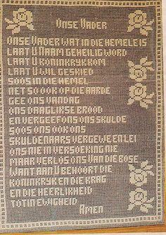 2x Die Onse Vader Filet Pattern1x Biddende Hande by SexyHeksie