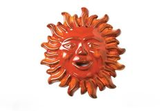 Wall ceramic sun small hanging sun special by thestonewarepottery