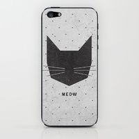 iPhone 5s & iPhone 5 Skins featuring MEOW by Wesley Bird