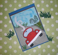 """Punch Art Karte - Geburtstag """"Auto"""" - happy birthday cards - Car -- stampin up punchs and lovley as a tree stamp"""