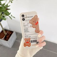 Vintage Leopard Bear Barcode Label Cute Phone Case For iPhone 11 12 Pro Max XS XR X 8 7 Plus SE 2020 | Touchy Style Cute Iphone 5 Cases, Cute Cases, Iphone Phone Cases, Iphone 8 Plus, Iphone 11, Cute Bears, Cards, Diy, Vintage