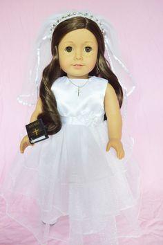 Brittany's - 3 Teir Dress with Gem Tiara Veil, $34.99 (http://www.mybrittanys.com/18-inch-american-girl-doll-clothes/dresses/wedding-gowns/3-teir-dress-with-gem-tiara-veil/)