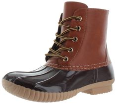 Moda Essentials Women's Ankle Rain Duck Boots Booties *** Want to know more, click on the image.