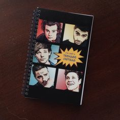 """1D One Direction Teenage Dirtbag Small Spiral Notebook 5""""x 8"""" Harry Styles, Niall, Liam, Louis, Zayn Back to School Journal"""