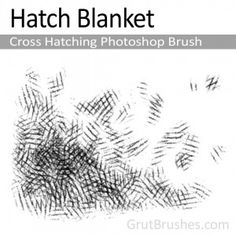 """Hatch Blanket"" - Photoshop Cross Hatching BrushA soft edged cross hatching brush with a variable pressure regulated flow that blends from light accents to dark graphic shading with a fairly broad range. Hatch Art, Cross Hatching, Artist Brush, Photoshop Brushes, Flow, Range, Ink, Blanket, Nature"