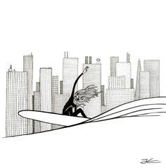 Big-City-Life-Surf-Drawing