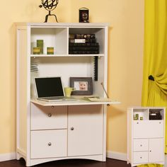 Gothic Cabinet Craft: Hide your Laptop w/ a Birch Computer Armoire from Gothic Cabinet Craft
