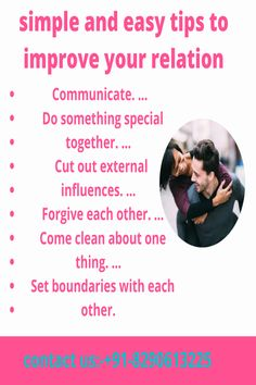 It is not very much difficult to make someone come back in your life. But you have to change your behavior. You must apply these simple and effective tips to get your lost love back in your life again · communication · cut out external influences · forgive each other
