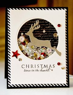 christmas shaker card inspiration #diywithstyle