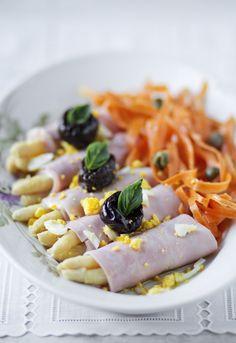 Receta 42: Rollos de jamón de York con espárragos y mayonesa » 1080 Fotos de cocina
