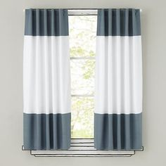 Kids Curtains: Grey and White Curtain Panels in Curtains