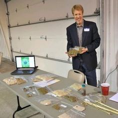 Casey Ives, director of business development for PureVision Technologies of Fort Lupton, shows off samples of hemp plant materials that can be used in a wide range of industrial and consumer products.