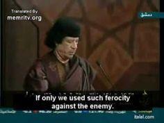 Гадафијево пророчанство: Милиони избеглица широм Европе (видео)  Милиони избеглица преплавиће европске границе и дефинитивно изненадити западне политичаре, изјавио је либијски лидер Моамер Гадафи неколико месеци пре него што је брутално погубљен. У ствари, мн