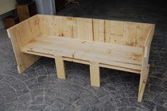 Sofá perfecto para el jardín o tu negocio, color natural #madera #artesanal #design #interior #exterior #decoracion #madera #wood