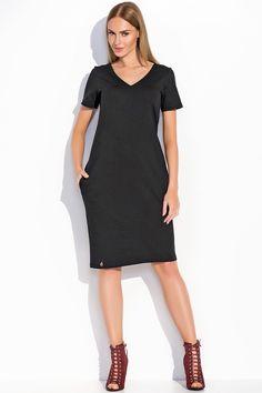Sukienka Makadamia M294 - czarny Stylowa sukienka damska. ...  https://www.mega-ciuchy.pl/sukienka_makadamia_m294_czarny