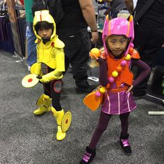 Go-Go Tamago and Honey Lemon from Big Hero 6 pic by Jenn Fujikawa