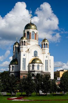 "Yekaterinburg's ""Church on the Blood,"" built on the spot where the Ipatiev House (the house where the Romanov family was murdered) once stood."