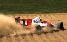 game over … Ayrton Senna, Marlboro McLaren-Honda MP4/5B, 1990 San Marino Grand Prix, Imola