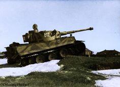 """Tigre I, numéro 812 """"Tiki"""". 8/SS PzRgt-2 """"Das Reich"""". Front de l'est."""