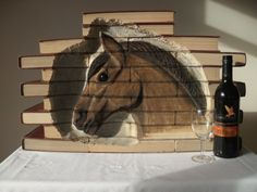 Amazing work of art made with books