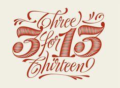3 for 13 by Martina Flor, via Behance