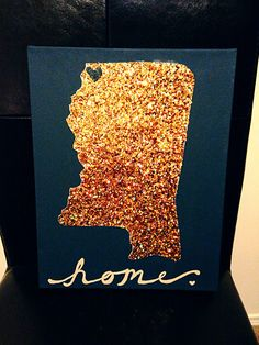 Glitter paper used for diy state art