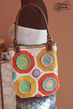 Happy boho purse - crochet with colors