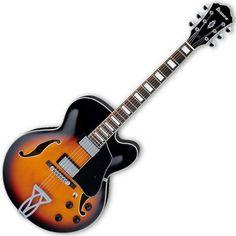 Ibanez AF75 Semi Acoustic Hollow Body Guitar, Brown Sunburst