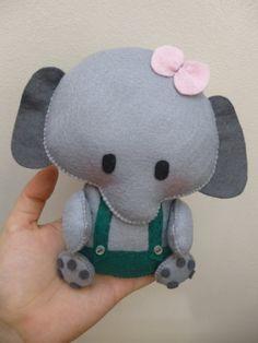 Cute Felt Elephant Stuffed PDF SEWING PATTERN Make Your Felt Elephant Plushie Easy Animal. $10.00, via Etsy. by montse.esquivel.779