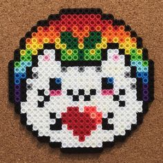 Perler Bead Designs, Perler Bead Templates, Hama Beads Design, Pearler Bead Patterns, Perler Patterns, Perler Beads, Hama Beads Kawaii, Perler Bead Art, Minecraft Beads