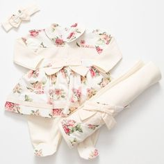 Saída de Maternidade Aninha Floral Menina 3 Peças