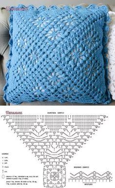 чехлы на подушки вязанные крючком со схемами: 14 тыс изображений найдено в Яндекс.Картинках