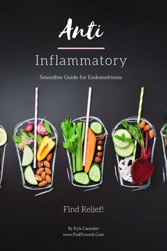This is a collection of anti-inflammatory smoothies that help with relieving Endometriosis pain that you will love! Smoothie Packs, Smoothie Detox, Juice Smoothie, Smoothie Recipes, Healthy Detox, Healthy Drinks, Healthy Smoothies, Eating Healthy, Stay Healthy
