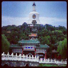 Stupa in the temple in Bei Hai Park, Beijing