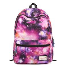 Amazon.com: Coofit® Galaxy Backpack Rucksack Casual Canvas Backpack Schoolbag Book Bag (Red): Clothing