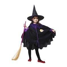 BlueSpace Girls' Witch Costume Halloween Birthday Party Costumes Dress up, S * Continue to the product at the image link. (This is an affiliate link) #cute