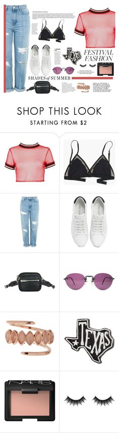 """""""Pack and Go: SXSW"""" by itsannalombardo ❤ liked on Polyvore featuring Boohoo, Madewell, Topshop, Prada, Alexander Wang, Luv Aj, Primitives By Kathy, Morphe, Current Mood and festivalstyle"""