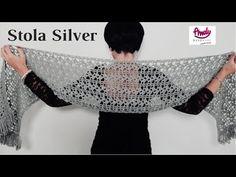 Crochet Scarves, Crochet Shawl, Crochet Stitches, Free Crochet, Baby Knitting Patterns, Crochet Patterns, Poncho Shawl, Crochet Bracelet, Crochet Videos