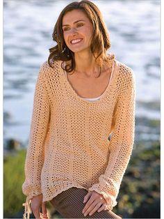 Autumn Romance Pullover Crochet Pattern