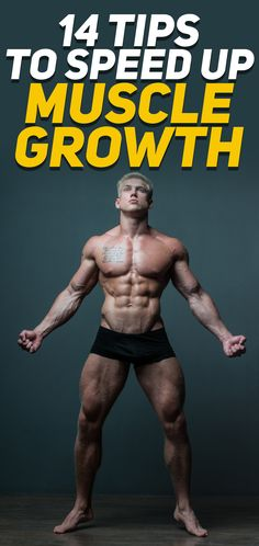 Build muscle faster with these 14 tips that will help you speed up muscle growth drastically! The goal of this article is for you to implement at least half of the tips on the list that will help you improve your workout and diet to lead to faster muscle Fitness Man, Muscle Fitness, Fitness Quotes, Men's Fitness Tips, Men Fitness Motivation, Men's Health Fitness, Fast Muscle Growth, Build Muscle Fast, Asana Yoga