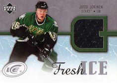 2005-06 Upper Deck Jussi Jokinen Game Used Jersey Card Fresh Ice Dallas Stars #DallasStars