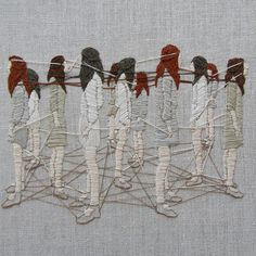 "Duties of gossamer | 6x8"" embroidery on linen"