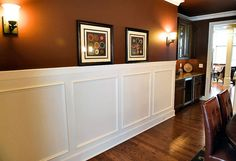 Formal dining room with Judge's paneling and crown molding