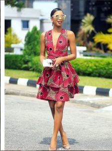 These are the best ankara short gown you have seen, check them out Ankara Short Gown, Short Gowns, Ankara Gowns, Ankara Dress, Stylish Gown, African Fabric, Suits You, Ball Gowns, Party Dress