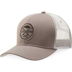 Life is Good Men s Fishing Hard Chill Trucker Hat 6ba3c2c5fe75