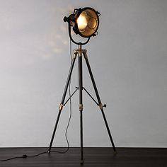 Buy Libra Vintage Floor Lamp, Antique Brass Online at johnlewis.com