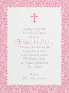 Baptism invitations in spanish baptism invitation wording in beauty shines through on this baptism invitation on shimmer paper the classic design is perfect stopboris Gallery
