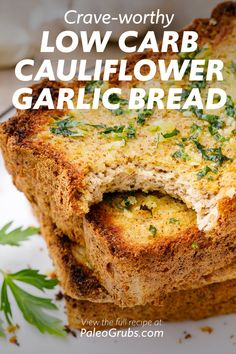 How to Make the Best Garlic Cauliflower Bread - Paleo Grubs Cauliflower Garlic Bread, Cauliflower Dishes, Paleo Grubs, Paleo Diet, Healthy Side Dishes, Keto Bread, Some Recipe, Dish Towels, Paleo Recipes