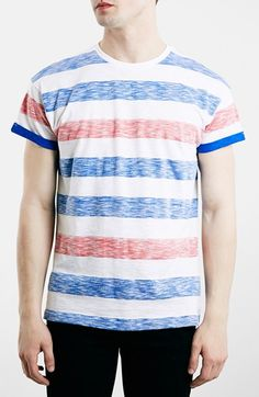 Topman Stripe Crewneck T-Shirt available at #Nordstrom
