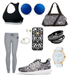 """""""Untitled #18"""" by eua-anagnwstou on Polyvore featuring NIKE, Matthew Williamson, Hervé Léger and Victorinox Swiss Army"""
